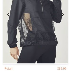 Black hoodie, front pocket, and see through bottom